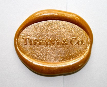 Tiffany's custom wax seal