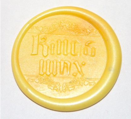 Custom yellow sealing wax
